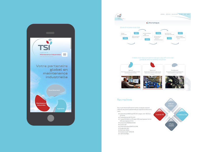 TSI - Site internet WordPress